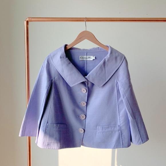 >Vintage Christian Dior Jacket Trapeze Blazer